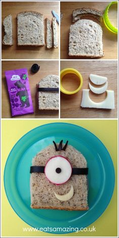 Eats Amazing - Simple Minion Sandwich & #FunFoodFriday #14