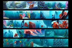 Finding Nemo - Storyboard Color Key - Pastels - Pixar. More