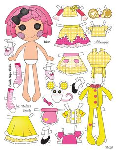 This Lalaloopsy doll was on of the orignal 8 that were released. This doll has 4 tops, 3 skirts, an apron, overalls, and Pjs, along with ...