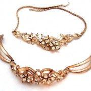 www.bitzofglitz.co  Trifari Rhinestone Necklace and Bracelet  60.00