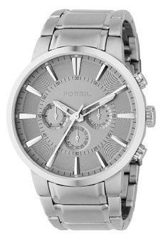 Fossil Men's FS4359 Stainless Steel Bracelet Silver Analog Dial Chronograph Watch Fossil. $112.50. Features three chronograph subdials for keeping track of elapsed time for up to 24 hours. Silver analog dial. Tell more than just time with the Fossil FS4359 analog chronograph watch. Stainless steel bracelet. Water-resistant to 165 feet (50 M). Save 10%!