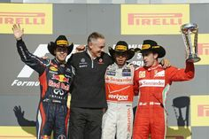 Cowboy stunts: FIA replaces baseball caps with Stetsons on F1 podium  2012 F1 US GP