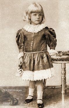 Princess Alice of Battenberg (1885-1969), later Princess Andrew of Greece, pictured as a little girl. She was the eldest child of Princess Victoria of Hesse and Prince Louis of Battenberg and became the mother of Prince Philip, Duke of Edinburgh, consort of Queen Elizabeth II.