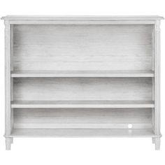 Evolur Julienne Hutch, Antique Gray Mist, White