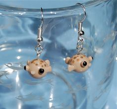 baby puffer fish earrings I NEED THESE!!!!!!!!!!!!