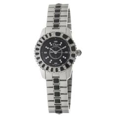 Christian Dior Women's CD112116M001 Christal Black Dial Diamond Watch Christian Dior. $3750.00. •Quartz movement•Black diamond dial and bezel•Stainless steel bracelet set with black crystals•Push button deployant clasp•Water-resistant to 50 m (165 feet)