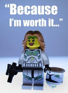 Lol. LEGO Star Wars Minifigure Trooper because Im worth it