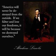 Sad to say it but Abe was right...it is happening right now.