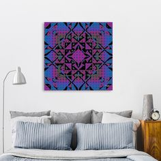 Discover «Pop Mandala», Numbered Edition Canvas Print by Christy Leigh - From $49 - Curioos