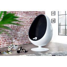 Moderne space Egg wit zwart - 1134