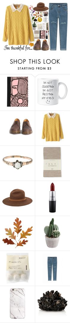 """""""Senza titolo #550"""" by fedeandrer ❤ liked on Polyvore featuring Petra Börner, Dr. Martens, Falke, Urbanears, rag & bone, MAC Cosmetics, McCoy Design and imthankfulfor"""