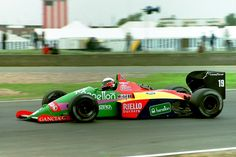 "Teodorico ""Teo"" Fabi (ITA) (Benetton Formula Ltd.), Benetton B187 - Ford-Cosworth GBA 1.5 V6 (t/c) (finished 6th) 1987 British Grand Prix, Silverstone Circuit"