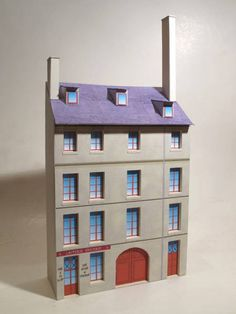 Simple House Paper Model for Miniature Railways Free Template Download