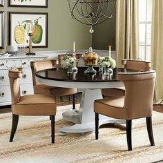 Ballard Designs Bunny Williams Manor House Dining Table ($2,399) ❤ liked on Polyvore featuring home, furniture, tables, dining tables, butterfly leaf table, oval extendable dining table, ballard designs, expandable kitchen table and extension table