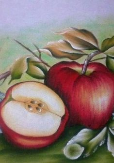 Watercolor Fruit, Fruit Painting, China Painting, Fabric Painting, Acrylic Painting Techniques, Painting Videos, Pictures To Paint, Art Pictures, Photos
