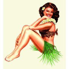 Hawaii Pin-Up Girls - Hawaiian 2011 Deluxe Wall Calendar by Garry Palm