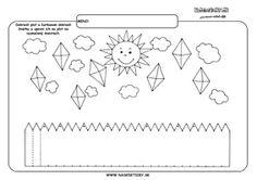 Jeseň - grafomotorika - pracovné listy pre deti Autumn Activities For Kids, Fine Motor, Handwriting, Worksheets, Drake, Alphabet, Preschool, Diagram, Learning