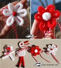 children activities, more than 2000 coloring pages Baba Marta, Cardboard Paper, Christmas Wreaths, Christmas Ornaments, Spring Crafts, Flower Crafts, Lana, Children Activities, Coloring Pages