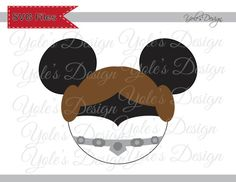 Leia Mickey Ears Star Wars SVG Disney Inspired Cutting File in Svg, Eps, Dxf, and Jpeg Format for Cricut and Silhouette