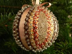 Handmade christmas sequin bauble