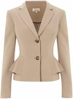 Linea Beige Peplum Jacket