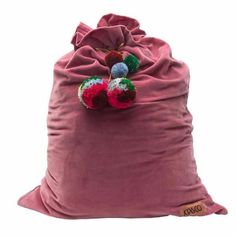 The sweetest velvet Santa sack. Perfect for Christmas, perfect for storage #Baby #children's #christmas