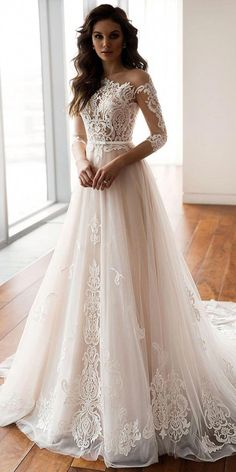 Dazzling Tulle One Shoulder Neckline A-Line Wedding Dresses With Lace Appliques . Dazzling Tulle One Shoulder Neckline A-Line Wedding Dresses With Lace Appliques & Belt Inexpensive Wedding Dresses, Dresses Elegant, Top Wedding Dresses, Wedding Dress Trends, Colored Wedding Dresses, Sexy Dresses, Bridal Dresses, Vintage Dresses, Wedding Gowns