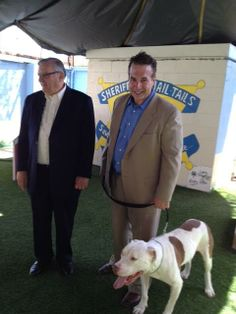 Mickey with Sheriff Joe and his attorney.  Both which helped saved his life.