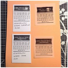 Scraptip: estampa tus sellos #scrapbooking #scraptip #stamps Event Ticket, Scrap, Tips, Stamps, Advice, Tat, Hacks, Counseling
