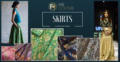 Skirts in brocade! http://blog.fabcouture.in/2016/01/18/brocade-in-your-wardrobe/