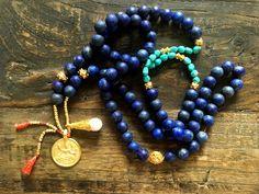 Matte Lapis Lazuli Shiva Mala