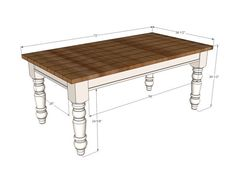 Ana white husky farmhouse table diy projects in plans decor. Farmhouse Table With Bench, Farmhouse Kitchen Tables, Diy Kitchen, Table Bench, Ana White Farm Table, White Farmhouse, French Farmhouse, Rustic Table, Kitchen Chairs