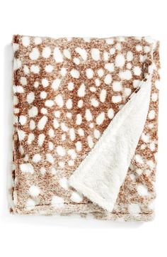 Kennebunk Home 'Doe a Deer' Throw Brown One Size from Nordstrom on Catalog Spree My New Room, My Room, Oh Deer, Textiles, Cozy Blankets, Fuzzy Blanket, Home Interior, Interior Design, Warm And Cozy