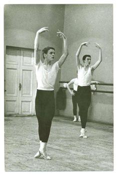 Mikhail Baryshnikov during his student days at the Vaganova Ballet Academy, circa 1962.