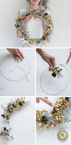 This Easy DIY rustic wreath only involves a couple of easy steps and will take just a few minutes to make - perfect for Christmas projects with the kids and family   VERONIQUE-PHOTOGRAPHY