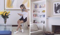 Nati Vozza no shooting Her Style na casa decoração