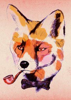 British Fox Tattoo Design