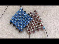 Flat Chenille Stitch Tutorial - A nice idea for a flat beadwork bracelet - YouTube