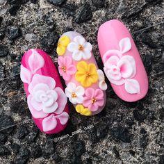 fun nail art creative Manicuresfun nail art videos At Home 3d Acrylic Nails, Acryl Nails, Acrylic Nail Shapes, Stiletto Nail Art, Gel Nail Art, Pastel Nails, 3d Nail Designs, Nail Art Designs Videos, Flower Nail Designs
