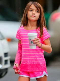 Suri Cruise Fashion Blog - love the top and purple bracelet
