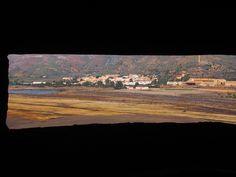 La bahía de Portmán (Murcia) desde la batería de costa del Pasaje de La Chapa.