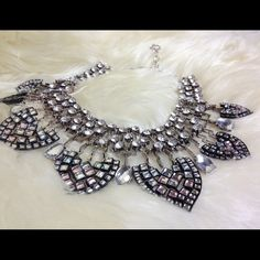 Brand new 2X HP Best Dressed &Best in jewelry Beautiful eye catching multicolored statement necklace with rhinestones. Jewelry