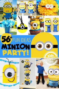 56 Fun Minion Party Ideas - party treats, DIY decorations, party games for kids and more!