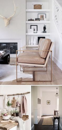 Soft modern interiors