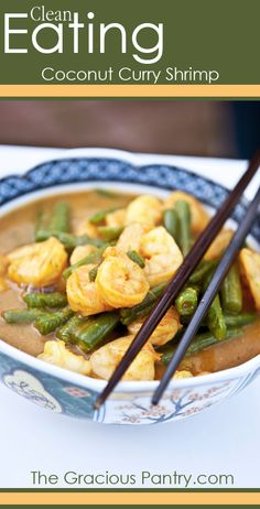 Clean Eating Coconut Curry Shrimp.  I'm not a fan of coconut but I'd like to try this.