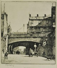 Argyle Cut, etching 2/100 by Lionel Lindsay