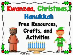LMN Tree: Kwanzaa, Christmas, and Hanukkah: Free Resources, Crafts, and Activiti… - Kwanzaa İdeas Happy Kwanzaa, Feliz Hanukkah, Hanukkah Crafts, Hannukah, Holiday Activities, Preschool Activities, Educational Activities, Preschool Christmas, Christmas Crafts
