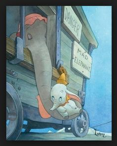 Dumbo - my favorite Disney movie when I was a kid. One of the saddest days of my childhood was when I thought I killed Dumbo when the VCR ate the tape. I cried for hours. Disney Magic, Disney Pixar, Walt Disney, Disney Amor, Animation Disney, Disney And Dreamworks, Disney Movies, Disney Characters, Dumbo Disney