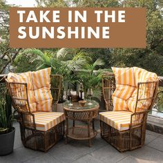 Enjoy the sunshine in style, with the Calyx Chair set by IDUS. The colour yellow symbolises energy, optimism and joy and the design of this set is a perfect mix of classic and modern outdoor furniture. Take home happiness and soak the sun in comfort this summer! #idusfurniture #furniture #outdoorfurniture #delhifurniture #outdoordecor #outdoorchair #balconydecor #terracefurniture #summer