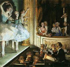 Константин Сомовコンスタンチン・ソーモフ(1869ー1939)「Русский балет(ロシア・バレエ)」(1930)